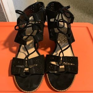 Vince Camuto wedge sandals. Like new!